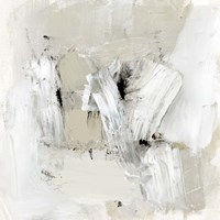 Neutral Brushstrokes I Fine Art Print