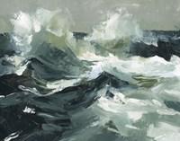 Choppy Ocean View I Framed Print