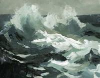 Choppy Ocean View II Framed Print