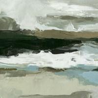 Textured Ocean Tide I Framed Print