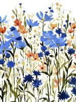 Bright Wildflower Medley I Framed Print