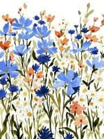 Bright Wildflower Medley II Framed Print