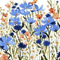Bright Wildflower Medley IV Framed Print