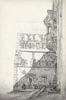 European Building Sketch I Fine Art Print