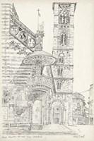 European Building Sketch II Fine Art Print