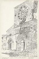 European Building Sketch III Fine Art Print
