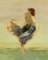 Sunlit Rooster I Framed Print