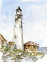 Plein Air Lighthouse Study I Framed Print