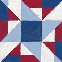 Americana Patchwork Tile I Framed Print