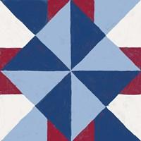Americana Patchwork Tile IV Framed Print