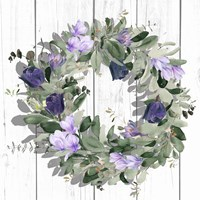 Purple Tulip Wreath II Framed Print