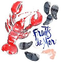 Fruits De Mer I Fine Art Print