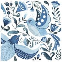 Blue Bird Folk II Framed Print