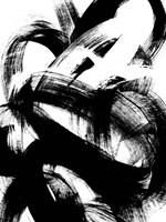 Onyx Swipe I Framed Print