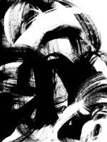 Onyx Swipe II Framed Print