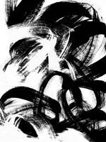 Onyx Swipe III Framed Print