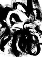 Onyx Swipe IV Framed Print