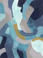 Puzzle Blues I Framed Print