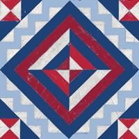 Americana Quilt Motif I Framed Print