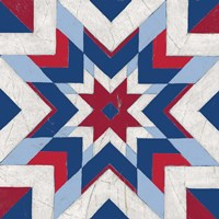 Americana Quilt Motif II Framed Print
