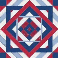 Americana Quilt Motif IV Framed Print
