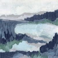 Blue Marsh Grove I Framed Print