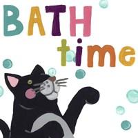 Cute Cat Bath IV Fine Art Print