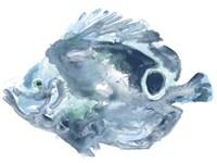 Blue Ocean Fish IV Framed Print