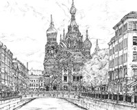 Russia in Black & White II Fine Art Print