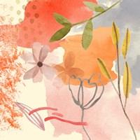 Flower Shimmer I Framed Print