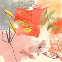 Flower Shimmer II Framed Print