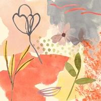 Flower Shimmer III Framed Print