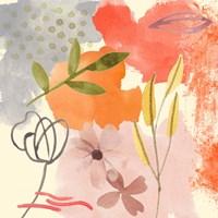 Flower Shimmer IV Framed Print