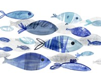Fish Parade I Framed Print