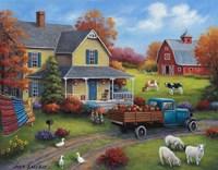 Harvest Time on the Farm Fine Art Print