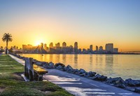 A Bench For A San Diego Sunrise Fine Art Print