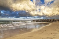 Storm Clouds Above The Jetty Fine Art Print