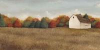 White Barn in Field Neutral Fine Art Print