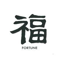 Fortune Word Framed Print