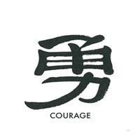 Courage Word Framed Print