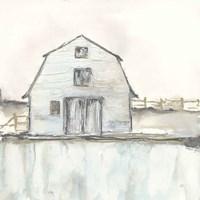 White Barn III Framed Print
