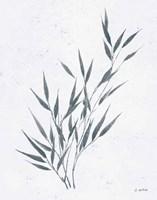 Soft Summer Sketches III Blue Framed Print
