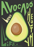 Kitchen Avocado Framed Print