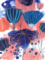 Blumen Blues Fine Art Print