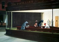 Hopper Night Hounds Fine Art Print