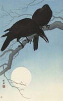 Two Crows on a Branch, 1927 Framed Print