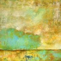 Deep Breath, Teal Trees, Stillness Fine Art Print