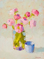 Bouquet With Blue Cup Fine Art Print