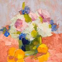 Peonies, Irises and Hydrangea Fine Art Print