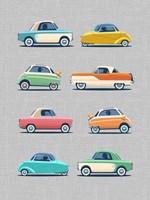Vintage Micro Cars Fine Art Print
